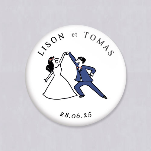 Miroir de mariage danseurs à personnaliser