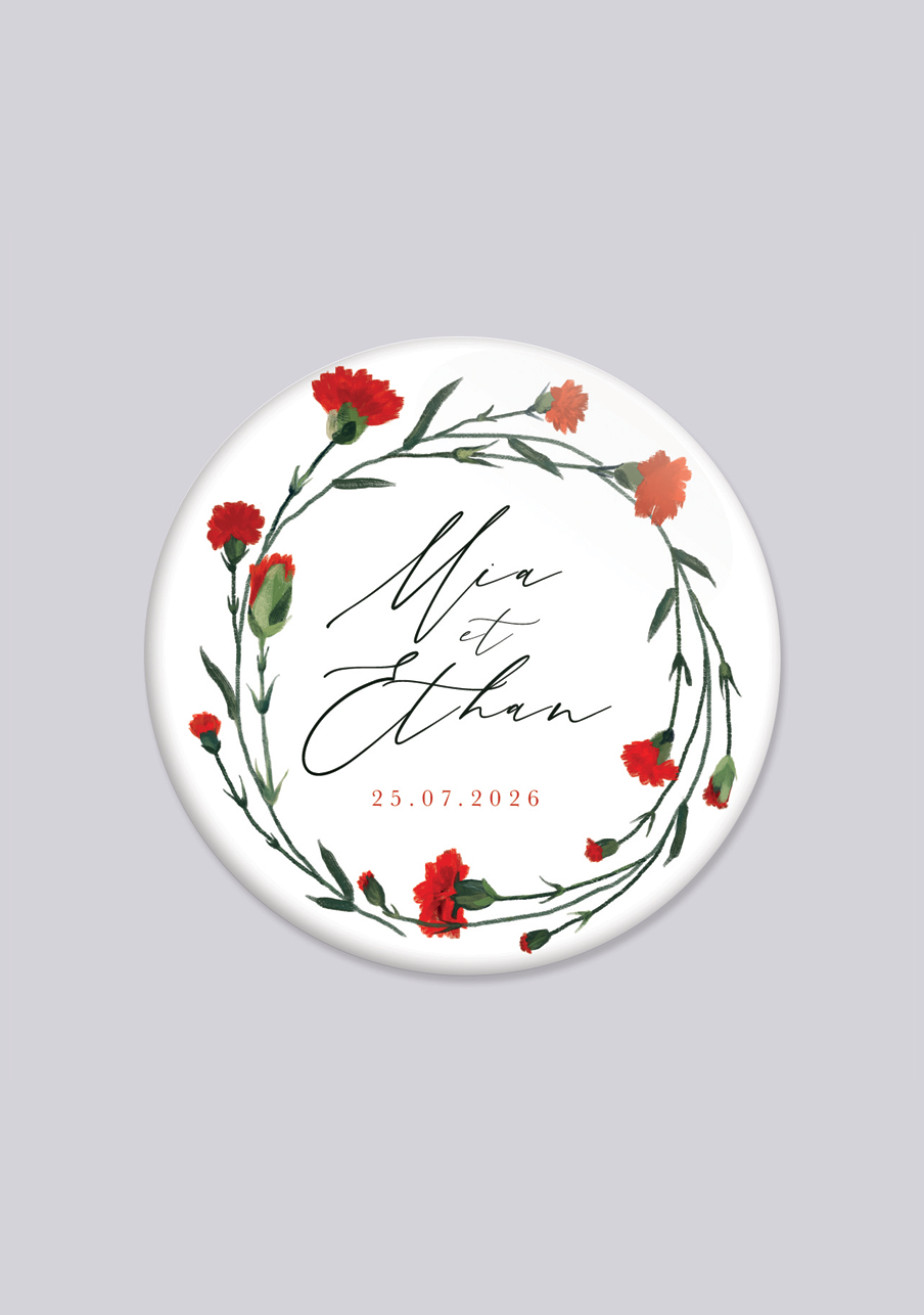 miroir mariage personnalisé Dellus