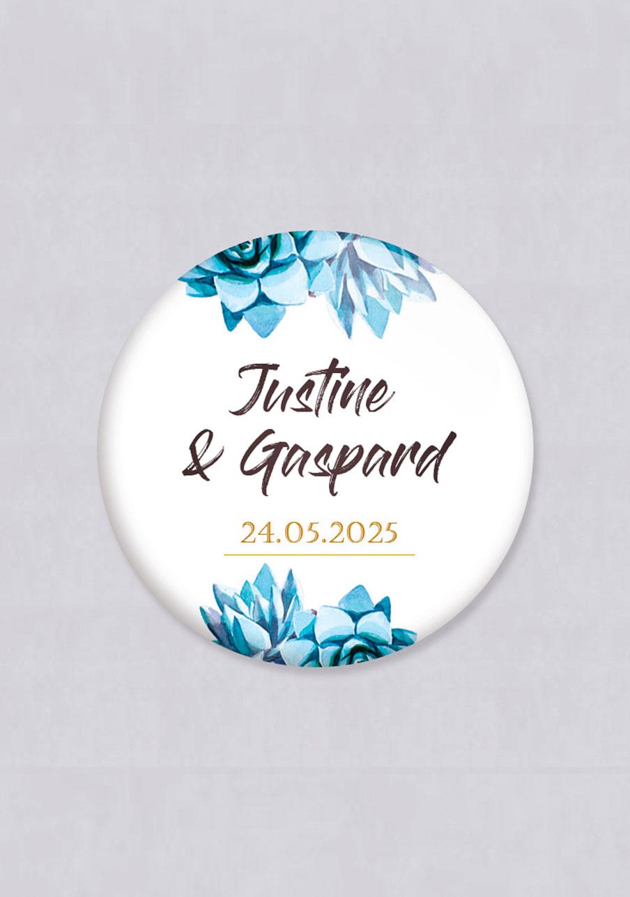 miroir mariage personnalisé Succulentes