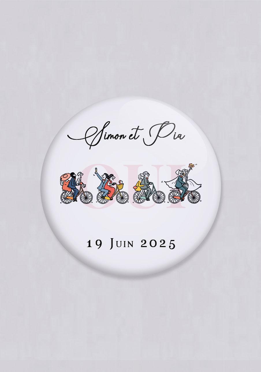 miroir mariage personnalisé Vélos