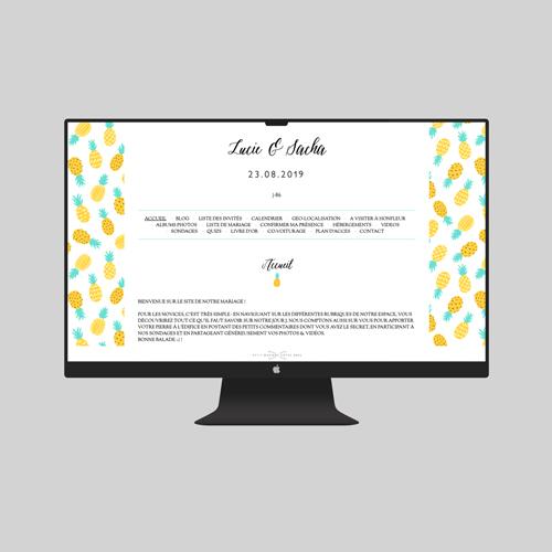 site de mariage ananas à personnaliser