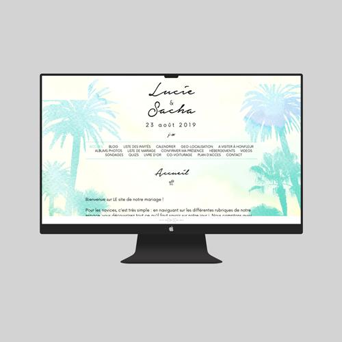 site de mariage beach à personnaliser