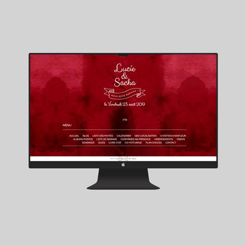 site de mariage burgundy à personnaliser