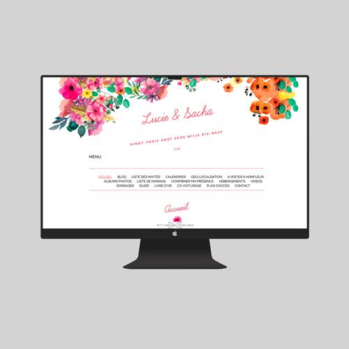 site de mariage champetre à personnaliser