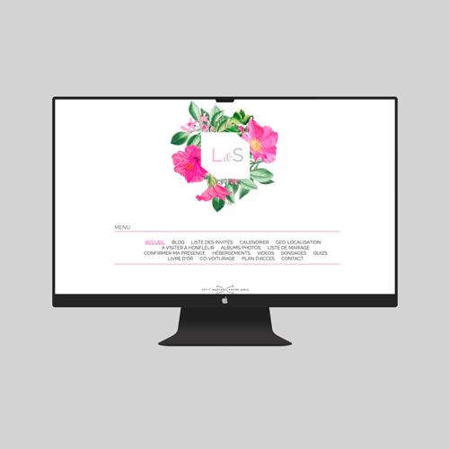 site de mariage floral à personnaliser