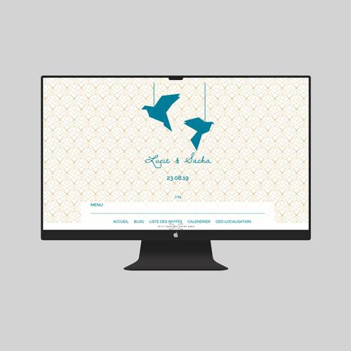 site de mariage origami à personnaliser