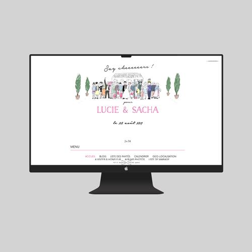 site de mariage photo-de-groupe à personnaliser