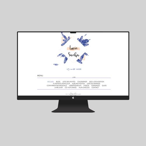 site de mariage plumes à personnaliser