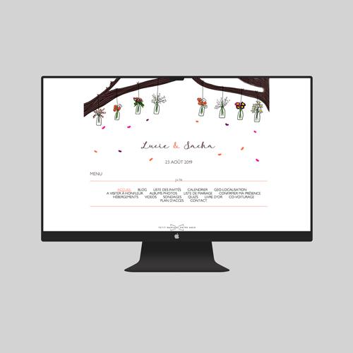 site de mariage vases-suspendus à personnaliser