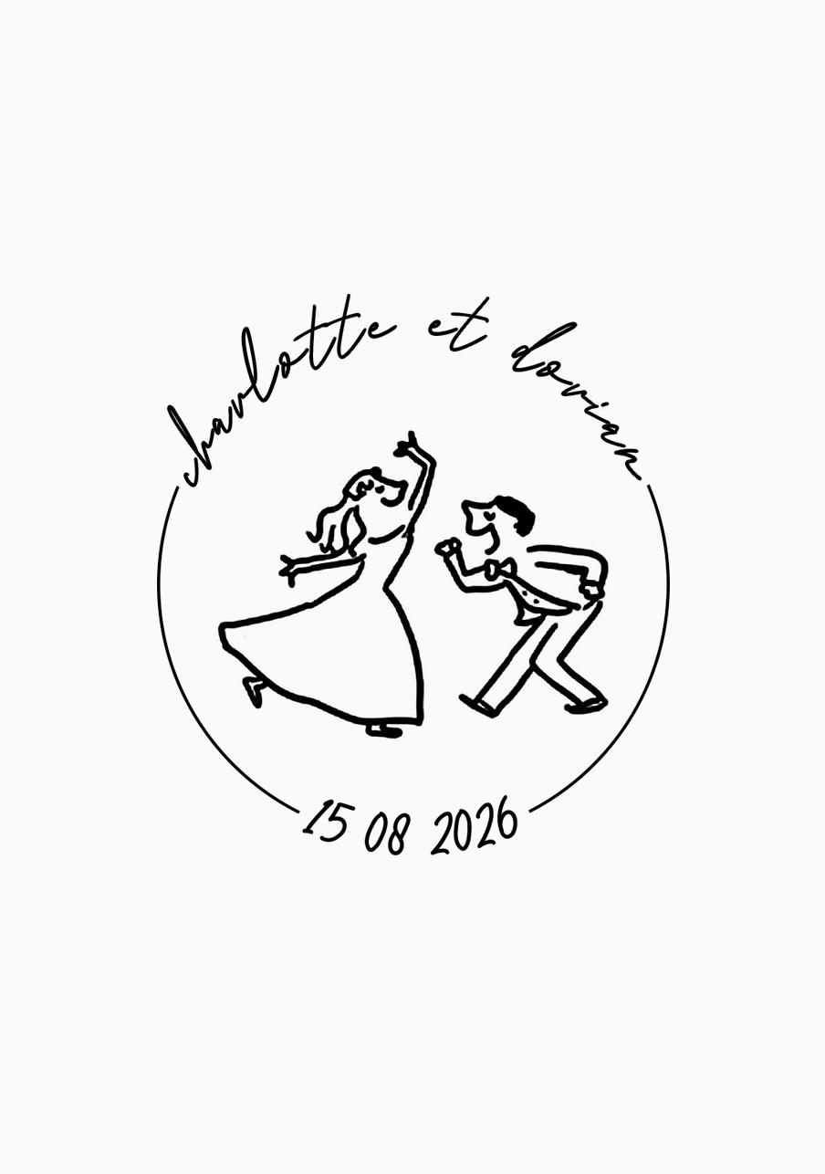 tampon mariage Scène danseurs