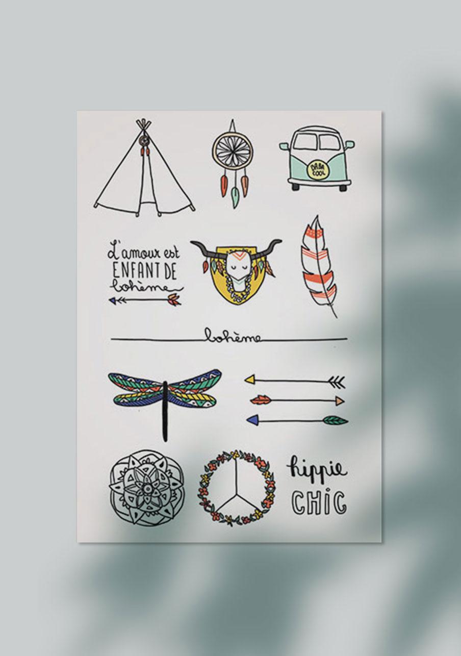 tattoo mariage personnalisé Bohème