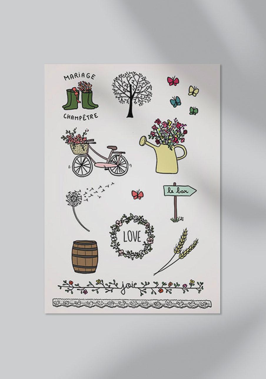 tattoo mariage personnalisé Champêtre