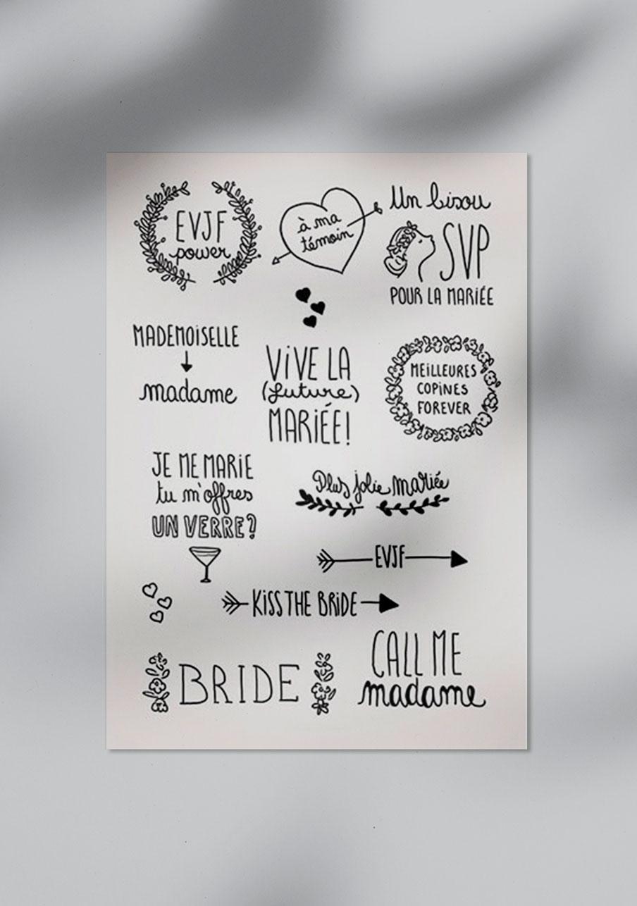 tattoo mariage personnalisé EVJF mariée