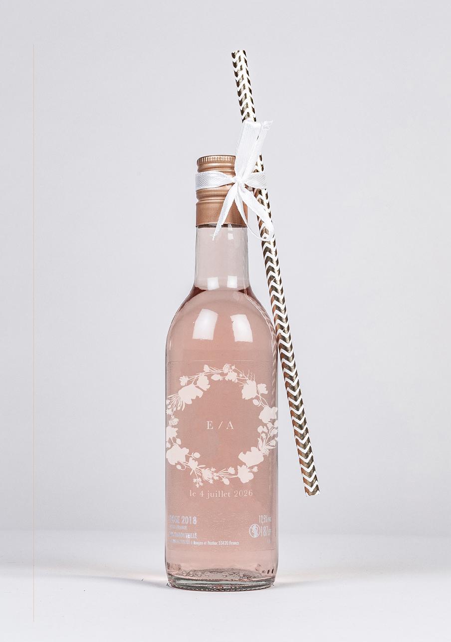 vin-rose mariage personnalisé Alexandria