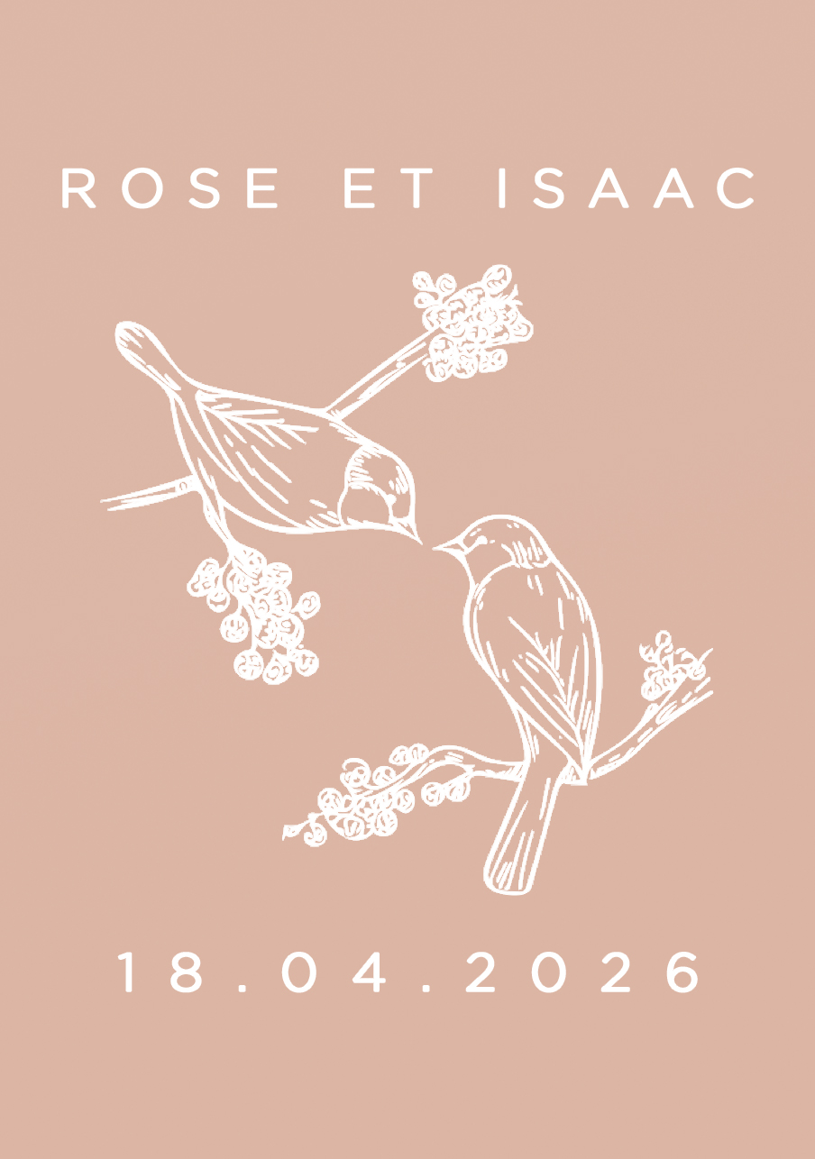 vin-rose mariage Birds