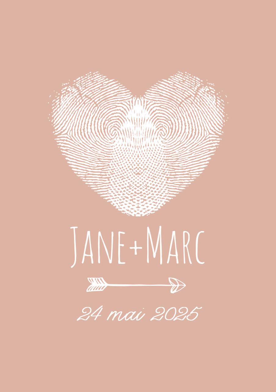 vin-rose mariage Coeur