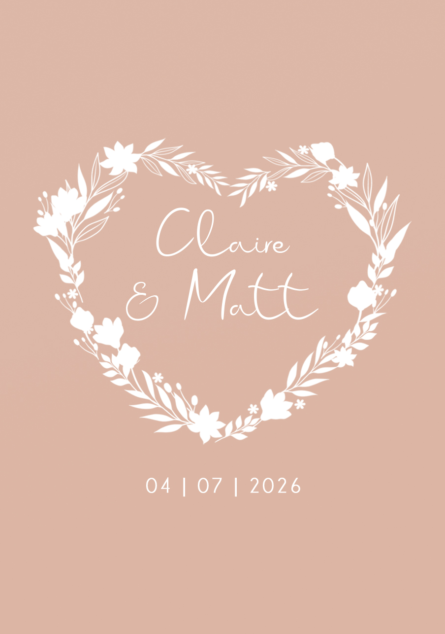 vin-rose mariage Couronne coeur