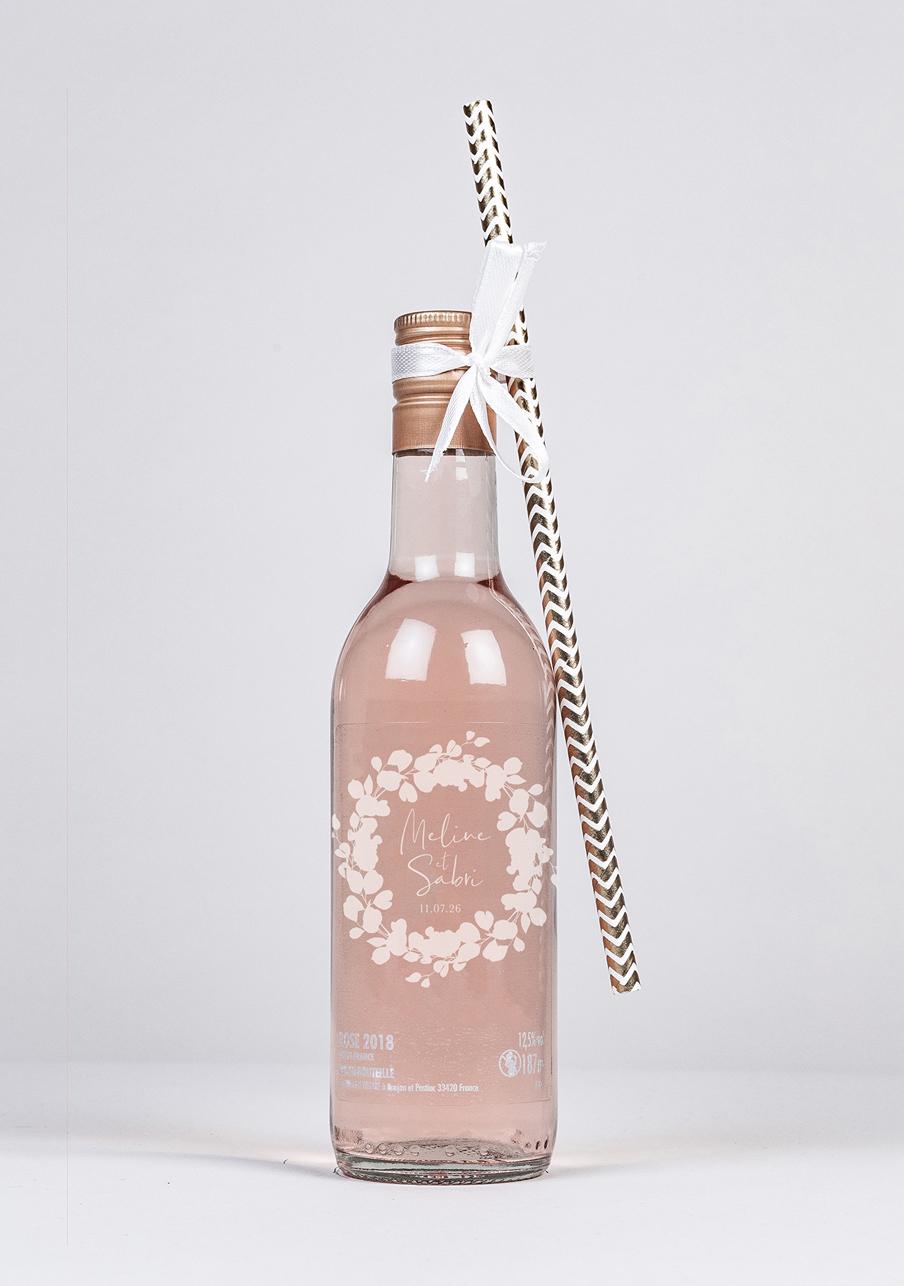 vin-rose mariage personnalisé Ema