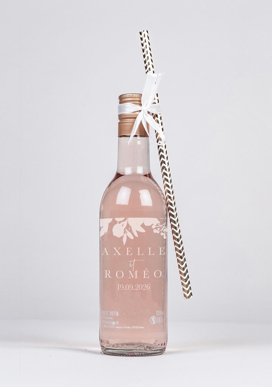 vin-rose mariage personnalisé Nova