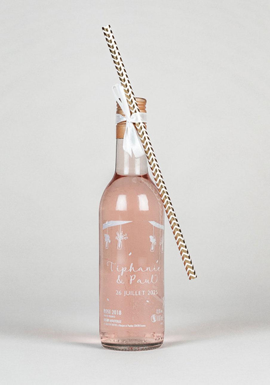 vin-rose mariage personnalisé Vases suspendus