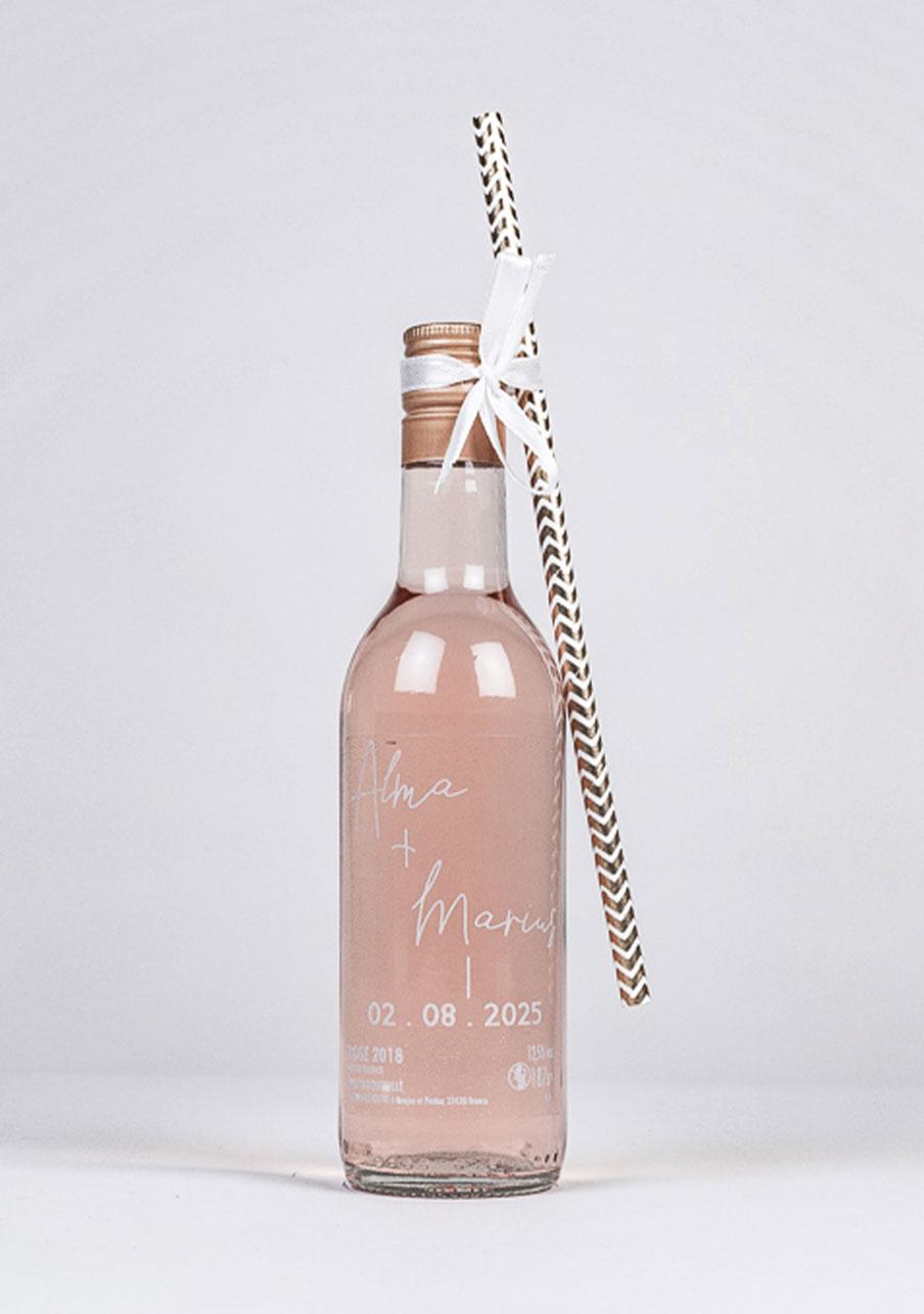 vin-rose mariage personnalisé Warp