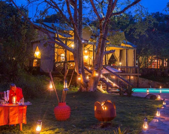 Une nuit au Serengenti Migration Camp